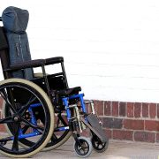 A wheelchair similar to the one Alon was in while at CarePartners.