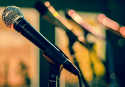 Overcoming aphasia with public speaking